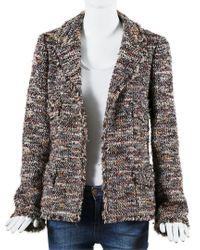 Chanel Multicolor Metallic Tweed Jacket, Size Fr 40