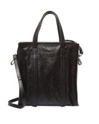 Balenciaga Black Bazaar Leather Tote Bag