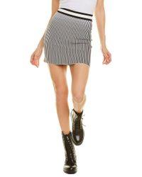 Off-White c/o Virgil Abloh Black Off-white? Striped Mini Skirt