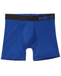 Naked Blue Boxer Brief for men