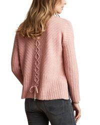 Odd Molly Pink Retreat Alpaca & Wool-blend Sweater
