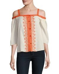 Bailey 44 - Multicolor Rose Water Embroidered Top - Lyst
