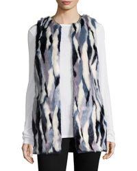 T Tahari - Blue Dorinda Faux Fur Vest - Lyst