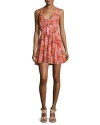 Free People | Pink Washed Ashore Mini Dress | Lyst