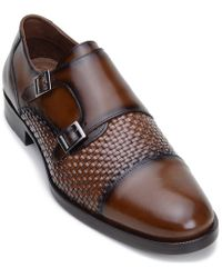 Belvedere Brown Emerson Leather Dress Shoe for men