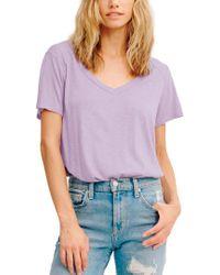 Lamade Purple V-neck T Shirt