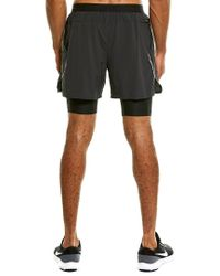 """Nike Black Flex Stride 2-in-1 Men's 5"""" Running Shorts for men"""