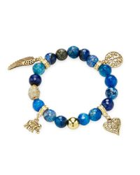 Elise M - Blue Adira Charm Bracelet - Lyst