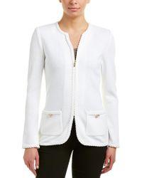 St. John White Wool-blend Jacket