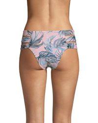Tori Praver Swimwear Blue Amalie Printed Bikini Bottom