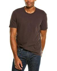 James Perse Purple Crewneck T-shirt for men