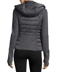 BLANC NOIR Gray Three-in-one Packable Down Moto Jacket