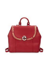 Love Moschino Red Chic Backpack