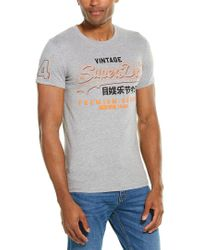 Superdry Gray Premium Goods T-shirt for men