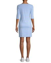 Saint James - Blue Propriano Striped Shift Dress - Lyst