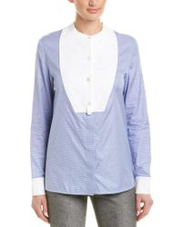 Stella McCartney Blue Button-front Blouse