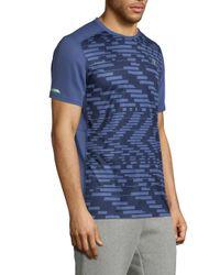 New Balance - Blue Ice Print T-shirt for Men - Lyst