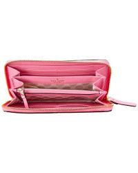 Kate Spade Pink Cedar Street Lacey Leather Wallet