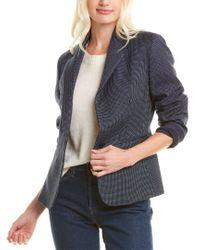 Max Mara Blue Primavera Wool & Silk-blend Jacket