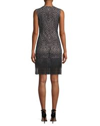Julia Jordan Black Fringe Sheath Dress