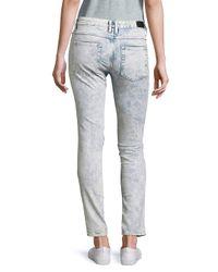 Sandro Blue Five-pocket Skinny-fit Jeans