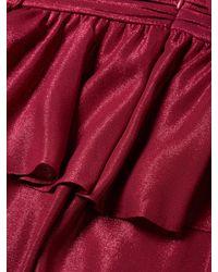 Zac Zac Posen Red Azalea Peplum Gown