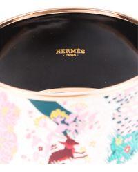 Hermès Pink 18k Rose Gold Plated Dans Un Jardin Anglais Xl Enamel Bracelet