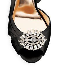 Badgley Mischka Black Tina Satin D'orsay Dress Sandals