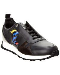 Fendi Black Leather & Suede Sneaker for men