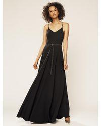 SJP by Sarah Jessica Parker Black Belted Maxi Dress
