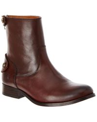 Frye Brown Melissa Button Back Tall Boot