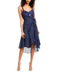 Parker Blue Tie-waist Midi Dress
