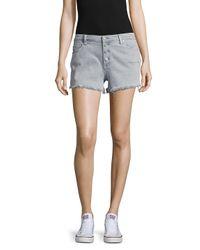 Blank NYC | Gray Five-pocket Frayed Shorts | Lyst