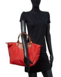 Longchamp Red Le Pliage Large Nylon Travel Bag