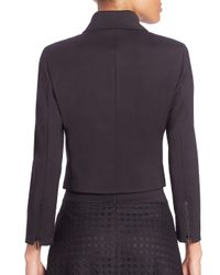 Akris Punto Black Cotton Techno Asymmetrical Zip Jacket