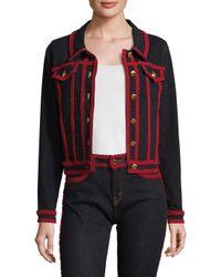 Love Moschino Blue Rickrack Cotton Jacket