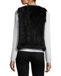 525 America - Black Rabbit Fur Vest - Lyst