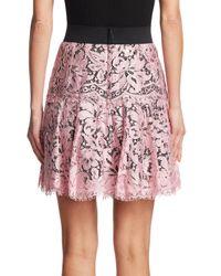 Dolce & Gabbana Multicolor Lace Flare Skirt