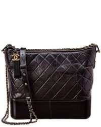 Chanel Black Quilted Lambskin Leather Gabrielle Hobo