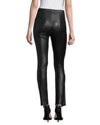 BCBGMAXAZRIA - Black Michal Faux-leather Leggings - Lyst