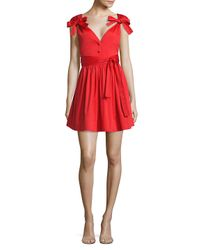 Alexis Red Kelisi Bow Fit-&-flare Dress