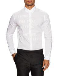Diesel Black Gold - White Skin The Sun Sportshirt for Men - Lyst