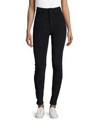 Sandro Black Striped Super Skinny-fit Jeans