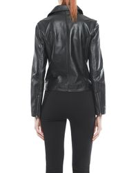 Walter Baker Black Andy Leather Motorcycle Jacket