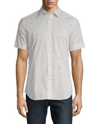 DIESEL White S-dove Printed Button-down Shirt for men