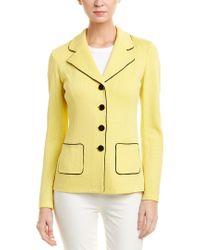St. John Yellow Wool-blend Jacket