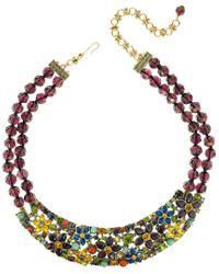 Heidi Daus Metallic Crystal Necklace