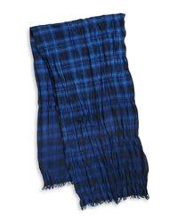 John Varvatos - Multicolor Plaid Merino Wool Scarf for Men - Lyst
