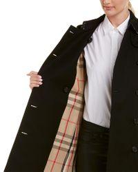 Burberry Black Kensington Medium-length Heritage Trench Coat