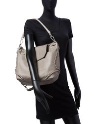 Liebeskind Gray Leather Knots Backpack W/tophandle